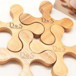 キッチンアイテム D&S(デザインアンドスタイル) 木製コースター