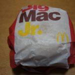 マクドナルド ビッグマックJr.を食べてみた。